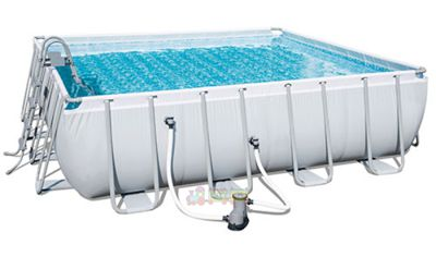 Bestway 56626, Каркасный бассейн Ultra Frame Rectangular Pool (488х122 см)